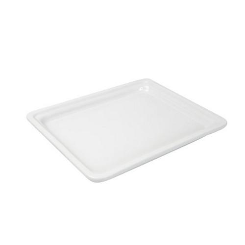 PAN PORCELAIN WHITE 1/2 SIZE 25X265X325MM RYNER