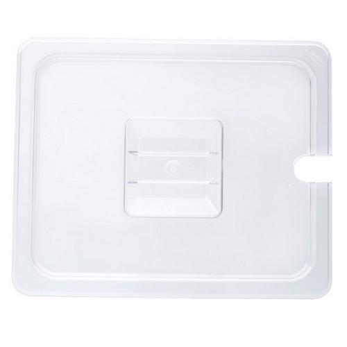 COVER POLY CLEAR 1/2 SIZE NOTCHED FOR FOOD PAN