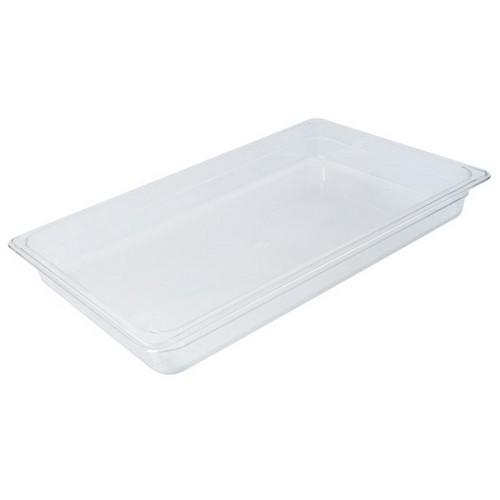 FOOD PAN POLY CLEAR 1/1 SIZE 100X325X530MM