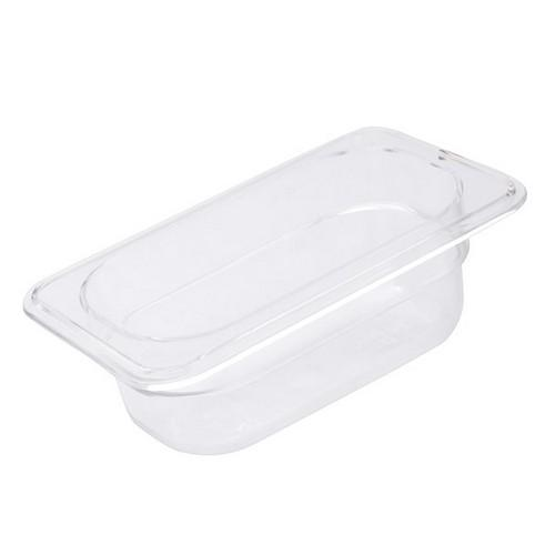 FOOD PAN POLY CLEAR 1/9 SIZE 65X108X176MM