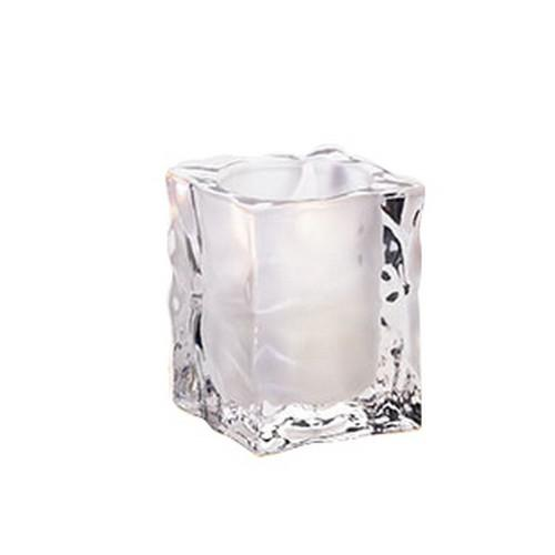 TABLE LAMP BASE GLASS SQUARE FROSTED ICE CUBE