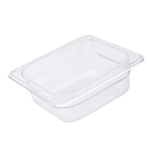FOOD PAN POLY CLEAR 1/6 SIZE 100X162X176MM