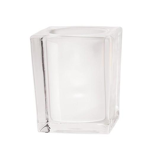 TABLE LAMP BASE GLASS SQUARE FROSTED