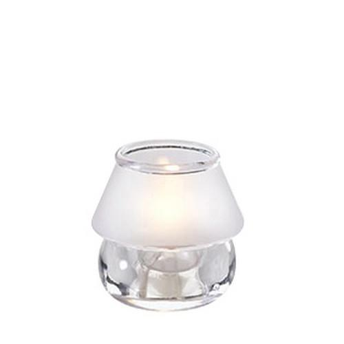TABLE LAMP BASE GLASS ROUND FROSTED SHADE