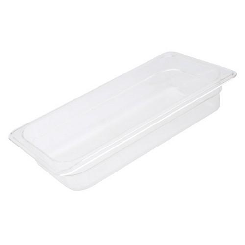 FOOD PAN POLY CLEAR 1/3 SIZE 150X176X325MM