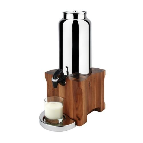 MILK DISPENSER S/S 4.5L ACACIA BASE KOOL ATHENA