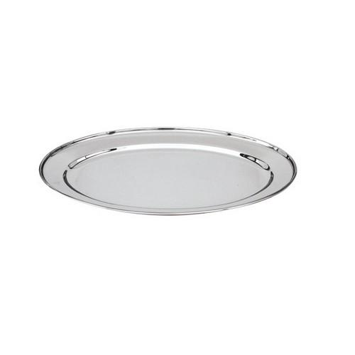 PLATTER OVAL S/S 350MM ROLLED EDGE H/D