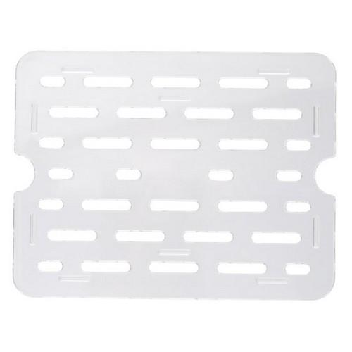 DRAIN PLATE POLY CLEAR 1/4 SIZE FOR FOOD PAN