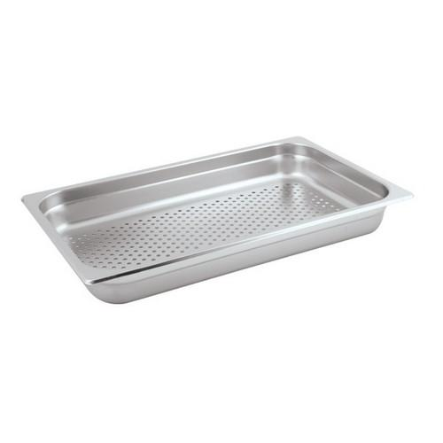 STEAM PAN S/S 1/1 SIZE PERF 65X530X325MM