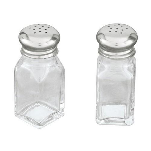 SALT & PEPPER SHAKER GLASS SQUARE 60ML 115MM