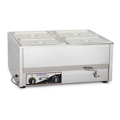 BAIN MARIE 4 X 1/2 SIZE 100MM PANS & LIDS ROBAND