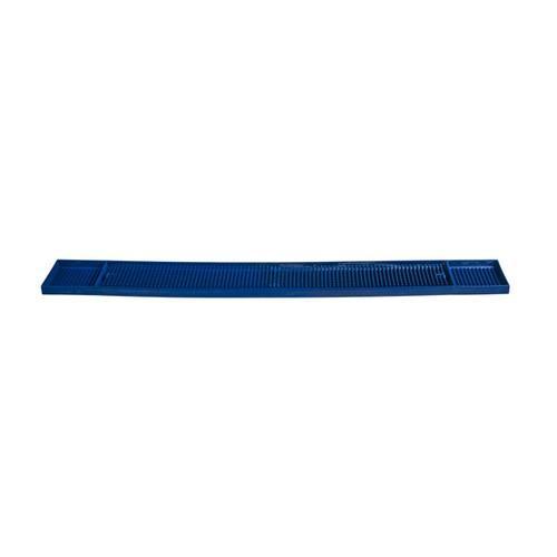 BAR MAT RUNNER RUBBER DIMPLES BLUE 610X83MM