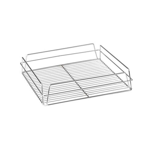 GLASS BASKET CHROME PLATED 355X435X75MM
