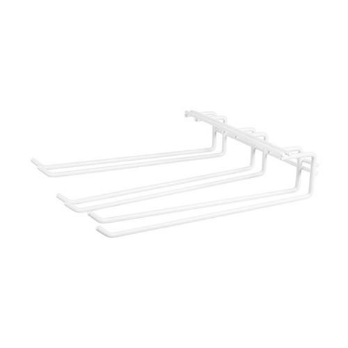 GLASS HANGER TRIPLE ROW WHITE PVC 270X220MM