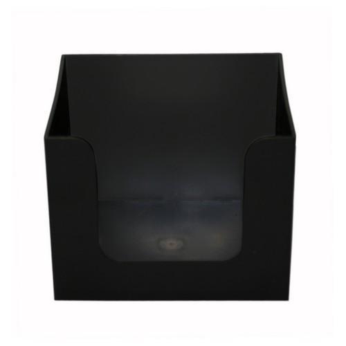 NAPKIN HOLDER BLACK PLASTIC
