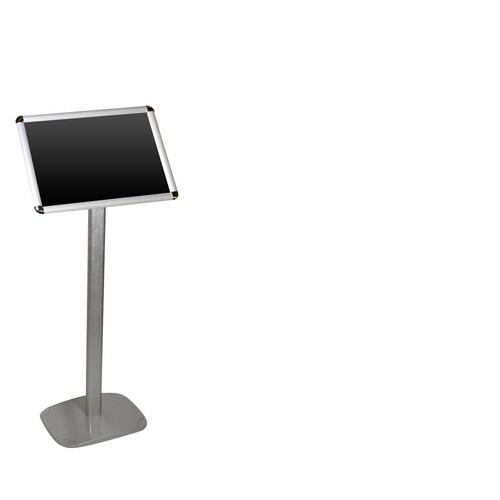 INFORMATION DISPLAY STAND ALUM / PVC A4 PORTRAIT 355X270X1185MM
