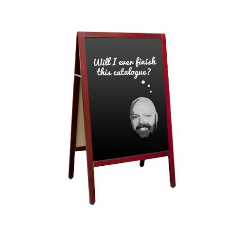 BLACKBOARD MAGNETIC 900X600MM A-FRAME