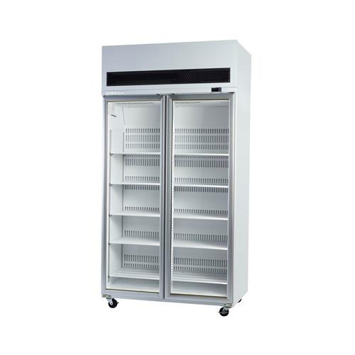 FREEZER UPRIGHT DISPLAY 2 GLASS DOOR 980L 1130MM SKOPE