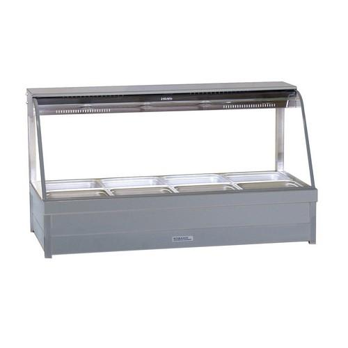 HOT FOOD DISPLAY BAR CURVED GLASS 2X4 PANS & R/D ROBAND