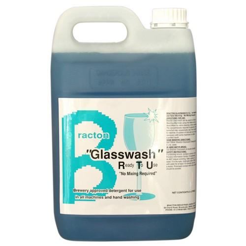 GLASSWASH LIQUID R.T.U 5L BRACTON