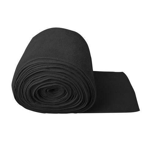 BAR RUNNER TOWEL 280MM BLACK - PER MTR