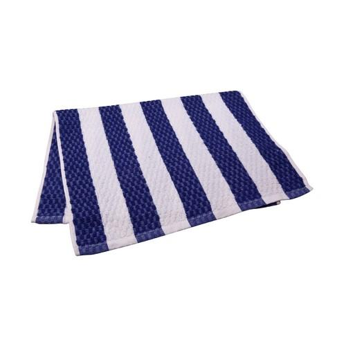 BAR SWAB TOWEL BLUE / WHITE STRIPE 380X600MM