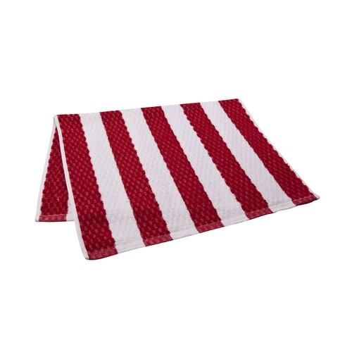 BAR SWAB TOWEL RED / WHITE STRIPE 380X600MM