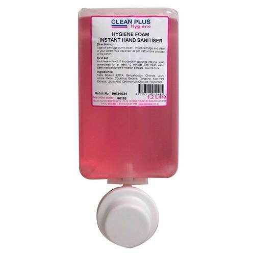 HAND SANITISER INSTANT FOAM HYGIENE 1.2L CLEAN PLUS