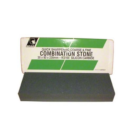 SHARPENING STONE #108 25X50X200MM COMBINATION BEAR