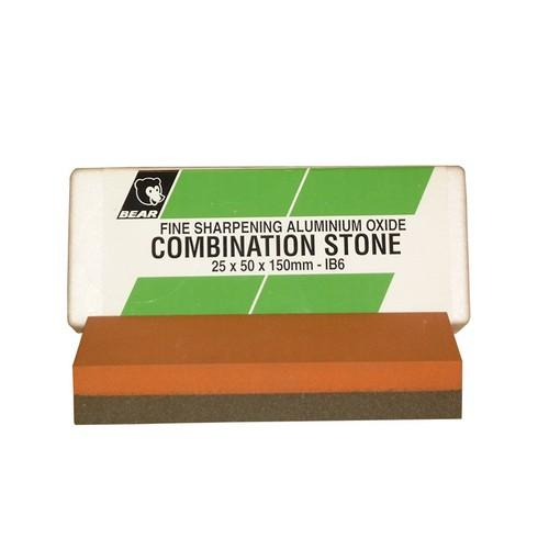 SHARPENING STONE 25X50X200MM COMBINATION FINE BEAR