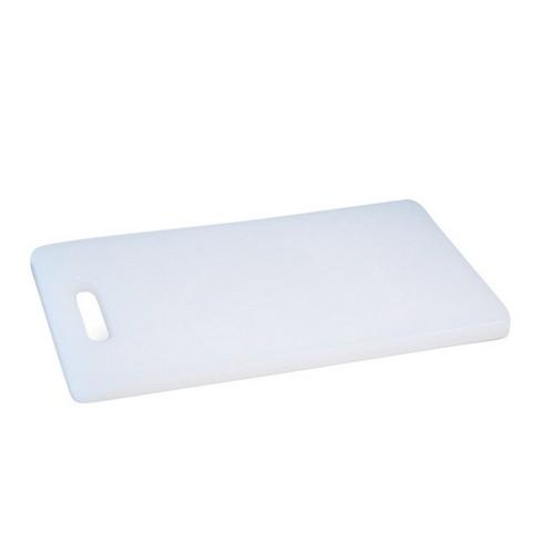 CUTTING BOARD POLY WHITE 305X205X13MM BAR