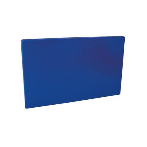 CUTTING BOARD POLY BLUE 250X400X13MM