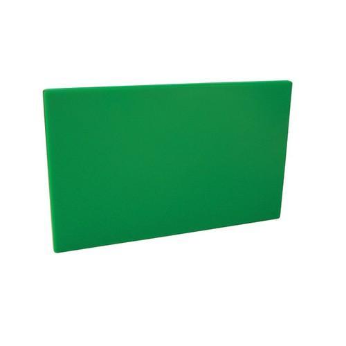 CUTTING BOARD POLY GREEN 250X400X13MM