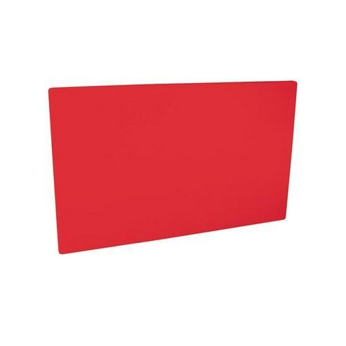 CUTTING BOARD POLY RED 250X400X13MM
