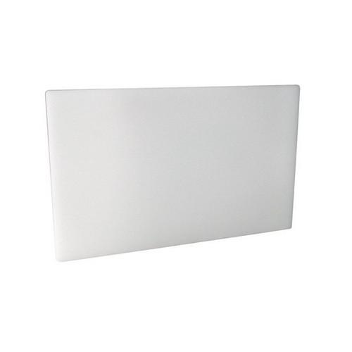 CUTTING BOARD POLY WHITE 380X510X19MM
