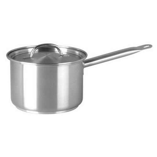 SAUCEPAN S/S 1.2L 140X80MM W/L ELITE CHEF INOX