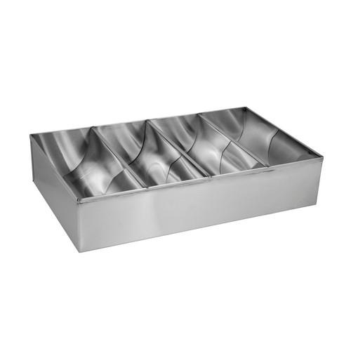 CUTLERY BOX S/S 4 COMPARTMENT 430X260X100MM