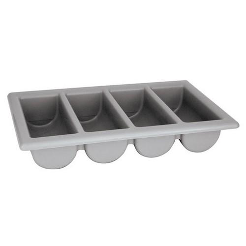 CUTLERY HOLDER BOX PLASTIC GREY 4 COMP