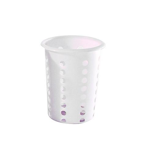 CUTLERY HOLDER CYLINDER PLASTIC WHITE