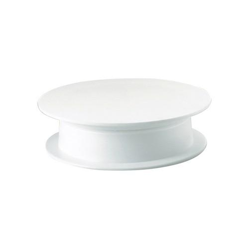 CAKE DECORATING STAND POLY WHITE REVOLVING 315MM THERMO