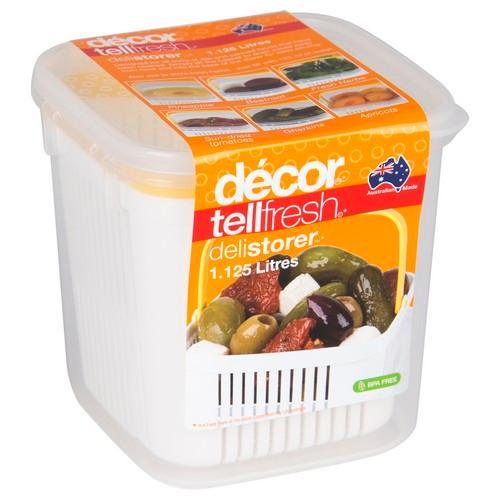 TELLFRESH DELI STORER 1.125L 122X117X116MM W/BASKET DECOR