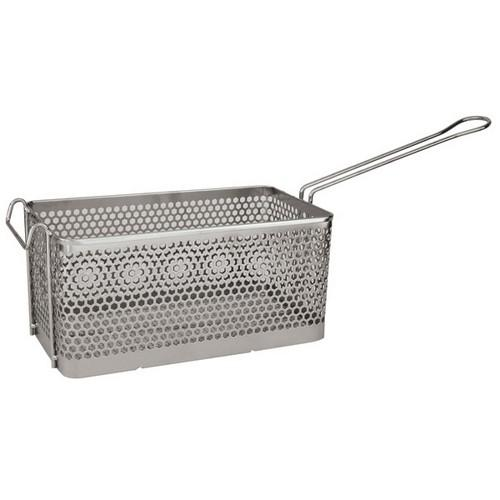 FRY BASKET CHROME RECT 225X200X155MM PUNCHED METAL