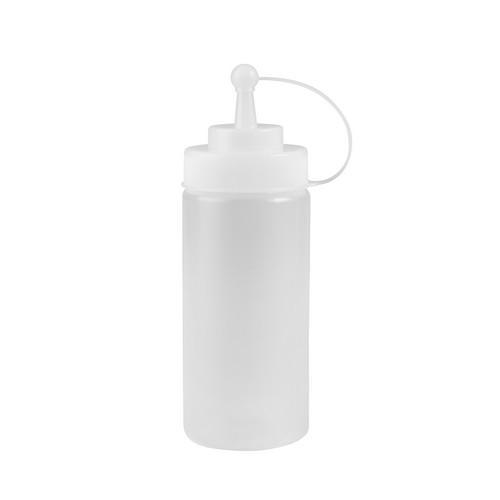 SAUCE / SQUEEZE BOTTLE PLASTIC CLEAR 480ML W/CAP