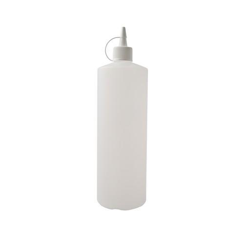 SAUCE / SQUEEZE BOTTLE HDPE CLEAR 1L W/LID