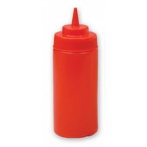 SAUCE / SQUEEZE BOTTLE PLASTIC RED 480ML