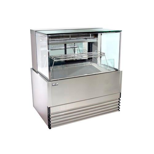 COLD DISPLAY CABINET SQUARE GLASS 1200MM KOLDTECH
