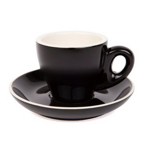 ESPRESSO CUP & SAUCER 90ML BLACK
