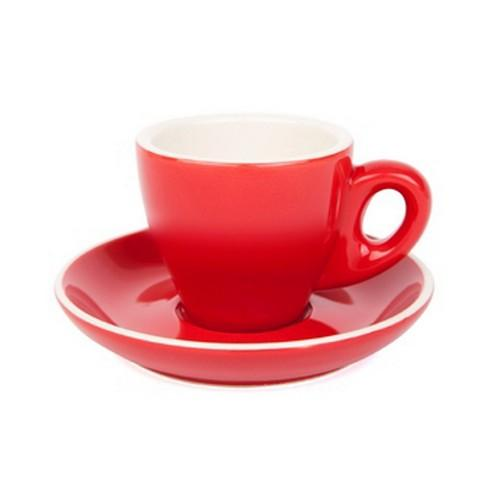 ESPRESSO CUP & SAUCER 90ML RED