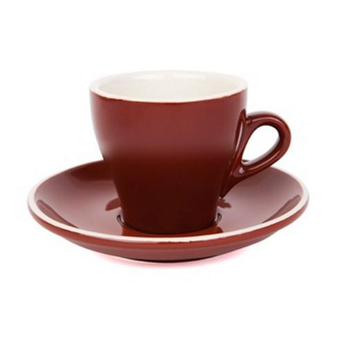 COFFEE CUP & SAUCER 180ML BROWN