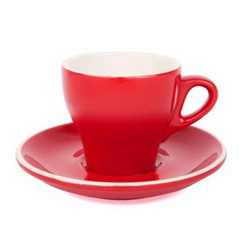 COFFEE CUP & SAUCER 180ML RED